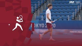 Олимпиада-2020. Теннис (муж). 1/32 финала. Андрей Рублев (ОКР) — Кеи Нисикори (Япония). Видеообзор